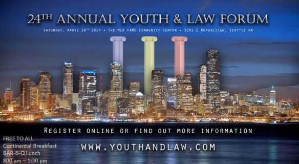 Youth  Law Forum 2014 Electronic Flyer